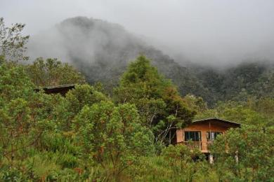 An ecolodge in the cloud forest of Oxapampa in Peru's Pasco region