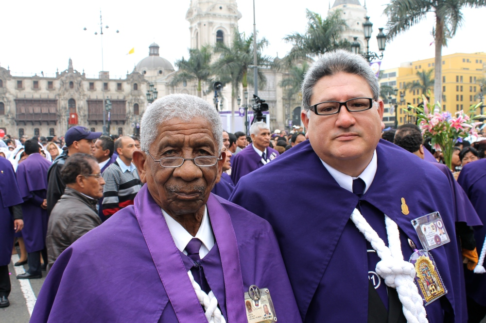 The Lord of Miracles procession brings together diverse members of Peru's different ethnic and racial communities.
